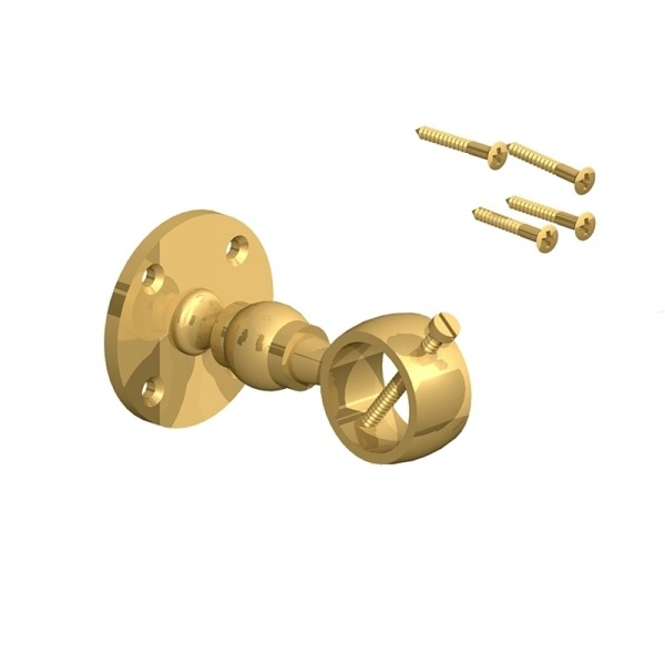 28mm handrail bracket for rope brass charltons timberstore for Garden decking rope fittings