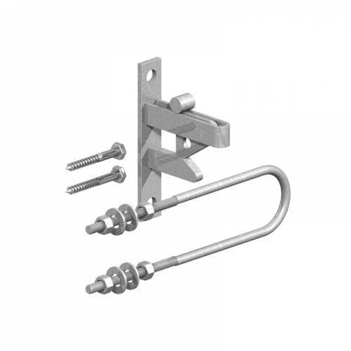 Self-Locking Gate Catch Kit with Double Leg Striker