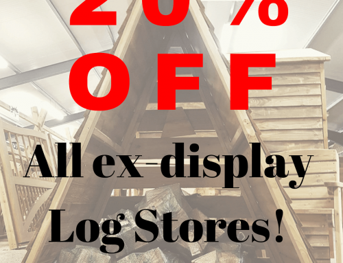 20% OFF EX-DISPLAY LOG STORES