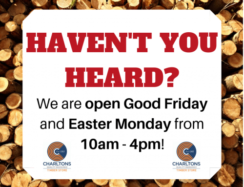 We are open this Easter weekend!